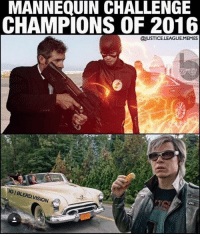 Memes, Oracle, and Mannequin: MANNEQUIN CHALLENGE  CHAMPIONS OF 2016  @JUSTICELEAGUEMEMES  ERD  SION ~Oracle