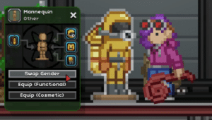 Live, Dreams, and Mannequin: Mannequin  X  Other  Swap Gender  Equip (Functional  Equip (Cosmetic)  F It's really hard watching other people live out your dreams :(