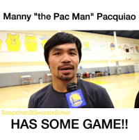 "Memes, Snapchat, and Game: Manny ""the Pac Man"" Pacquiao  Snapchat:BSwizzlescher  HAS SOME GAME!! CONGRATS MANNY!!!  -Hoops Nation admins"