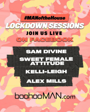 #MANoftheHouse LOCKDOWN SESSIONS ARE BACK. 🔥🔥🔥  🗣️ Tune in today from 8pm for the ultimate Facebook Live Takeover, featuring:  @samdivine  @LeanneSweetFA  @kellileighuk  @BlameAlexMills   Who's tuning in? 👀 https://t.co/cODaHqG8Ix: #MANoftheHouse LOCKDOWN SESSIONS ARE BACK. 🔥🔥🔥  🗣️ Tune in today from 8pm for the ultimate Facebook Live Takeover, featuring:  @samdivine  @LeanneSweetFA  @kellileighuk  @BlameAlexMills   Who's tuning in? 👀 https://t.co/cODaHqG8Ix