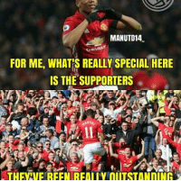 "Memes, 🤖, and Cheers: MANUTD14  CHEVRI  FOR ME, WHATIS REALLY SPECIAL HERE  IS THE SUPPORTERS WE LOVE YOU THONY 🔴❤ . From @martial_9 : ""For me, what's really special here is the supporters. They've been really outstanding with me. I think that's what goes a long way to making me feel at home and at ease, and makes me really keen to stay here at the club. In France, even if you're one of the best players around, they might begin to boo and jeer you if you go a couple of games without scoring. But here it's just the opposite, they'll try to cheer you on so you might be able to score, and so then you grow in confidence. I think it's just a different mentality. That's why I like the fans here so much."" . mufc manchesterunited ggmu mourinho davesaves reddevils oldtrafford darmian mkhitaryan ibrahimovic bailly pogba waynerooney martial anderherrera rashford philjones daleyblind lingard ashleyyoung valencia lukeshaw smalling daviddegea juanmata manutd14_ manutd14_id"