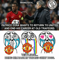 EVRA WANTS TO RETURN TO UNITED ??? ONCE 🔴 ALWAYS 🔴 @patrice.evra🤘 . Yes yes yes pleaseeeee pleaseee 🙏🙏🙏 . Patrice Evra wants to return to Manchester United and end his career at Old Trafford. The Frenchman has told friends that he would have no hesitation leaving the Italian club for United if they came calling in the transfer window this month. [Times and Daily Mail] . mufc manchesterunited ggmu mourinho davesaves reddevils oldtrafford darmian mkhitaryan ibrahimovic bailly schweinsteiger schneiderlin pogba waynerooney martial anderherrera rashford philjones daleyblind lingard ashleyyoung valencia lukeshaw smalling daviddegea juanmata manutd14_ manutd14_id: MANUTD14.  PATRICE EVRA WANTS TO RETURN TO UNITED  AND END HIS CAREER AT OLD TRAFFORD.  ACHES  CHEF  UNITE  NITED  NITED  YES PLEASE  BRING HIM BACK IN THE RED SHIRT BOSS EVRA WANTS TO RETURN TO UNITED ??? ONCE 🔴 ALWAYS 🔴 @patrice.evra🤘 . Yes yes yes pleaseeeee pleaseee 🙏🙏🙏 . Patrice Evra wants to return to Manchester United and end his career at Old Trafford. The Frenchman has told friends that he would have no hesitation leaving the Italian club for United if they came calling in the transfer window this month. [Times and Daily Mail] . mufc manchesterunited ggmu mourinho davesaves reddevils oldtrafford darmian mkhitaryan ibrahimovic bailly schweinsteiger schneiderlin pogba waynerooney martial anderherrera rashford philjones daleyblind lingard ashleyyoung valencia lukeshaw smalling daviddegea juanmata manutd14_ manutd14_id