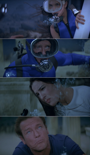 Many of the underwater scenes in For Your Eyes Only (1981), especially close-ups, were faked on a dry soundstage. Actress and main Bond girl Carole Bouquet had a pre-existing health condition that prevented her from performing underwater.: Many of the underwater scenes in For Your Eyes Only (1981), especially close-ups, were faked on a dry soundstage. Actress and main Bond girl Carole Bouquet had a pre-existing health condition that prevented her from performing underwater.