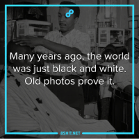 Memes, Black, and Black and White: Many years ago, the world  was just black and white.  Old photos prove it.  8SHIT NET How they colored it is still a mystery.