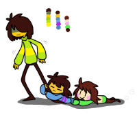 Children, Target, and Tumblr: maplebiscuit:  Local teenager walks around town with two unidentified children hugging their leg.