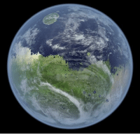 Target, Tumblr, and Zoom: mapsontheweb:  Mars, if it still had a magnetic field, atmosphere, and water.