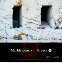 Memes, Greece, and 🤖: Marble quarry in Greece  Weird World
