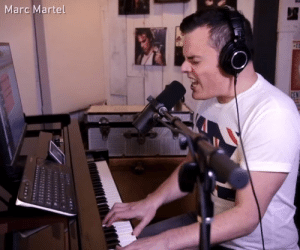 Dank, 🤖, and Marc: Marc Martel Sing together now!  By Marc Martel