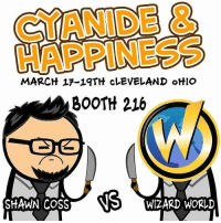 MARCH 17-19TH CLEVELAND OHIO  SM BOOTH 216  NS WIZARD WORLD Hey, Celeveland and other Ohio places! (I'm lookin' at you, Akron!) Do you have plans this weekend? Didn't think so. How about you head on over to Wizard World this weekend, March 17th-19th? Shawn Coss will be there, stabbing and signing away!⠀ ⠀ Click the link in our bio for more info and to purchase tickets!