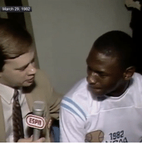 """""""35 years ago, freshman MichaelJordan nailed the game-winning jumper to win the national championship for UNC."""" 👏🏀💯 @sportscenter WSHH: March 29, 1982  198 """"35 years ago, freshman MichaelJordan nailed the game-winning jumper to win the national championship for UNC."""" 👏🏀💯 @sportscenter WSHH"""
