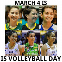 PSL OPENING AND ATENEO-LA SALLE GAME! <3: MARCH 4 IS  Salt  ATENEO  ATENEO  IS VOLLEYBALL DAY PSL OPENING AND ATENEO-LA SALLE GAME! <3