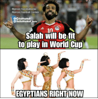 Football, Memes, and 🤖: Marcos Fussballecke  Marcos Football Corner  00 TrollFootball  The TrollFootball Insta  1A  Salah will be fit  to play in Worid Cup  EGYPTIANS RIGHT NOW