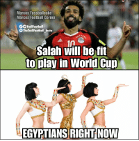 Memes, News, and World Cup: Marcos Fussballecke  Marcos Foothall Corner  TrollFootball  TheTrollFootball Insta  1A  Salah will be fit  to play in World Cup  EGYPTIANS RIGHT NOW Good News https://t.co/2rizgLs0pf