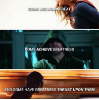 Memes, Batman Superman, and 🤖: MAREAT  SOME ARE BO  SOME ACHIEVE GREATNESS  AND SOME HAVE GREATNESS THRUST UPON THEM Out of this 3 which series is your favorite? dc dccomics dceu dcu dcrebirth dcnation dcextendeduniverse batman superman manofsteel thedarkknight wonderwoman justiceleague cyborg aquaman martianmanhunter greenlantern theflash greenarrow suicidesquad thejoker harleyquinn comics injusticegodsamongus