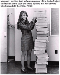 ufosightingsfootage: The real reason mankind went to the Moon is this lady. Amazing.https://www.instagram.com/p/BsfnmjshAA3/?utm_source=ig_tumblr_shareigshid=p1ybbxv208af: Margaret Hamilton; lead software engineer of the Apollo Project,  stands next to the code she wrote by hand that was used to  take humanity to the moon. [1969] ufosightingsfootage: The real reason mankind went to the Moon is this lady. Amazing.https://www.instagram.com/p/BsfnmjshAA3/?utm_source=ig_tumblr_shareigshid=p1ybbxv208af