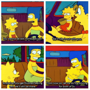 Marge is the best kind of mom.: Marge is the best kind of mom.