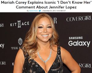 "Billboard, Funny, and Jennifer Lopez: Mariah Carey Explains Iconic 'I Don't Know Her  Comment About Jennifer Lopez  By Adelle Platon| November 24, 2015 10:30 AM EST   I COVERGIRI  IRI  KIT I(ACE  SAMSUNG  Galaxy  THE P  GIRL K  RGIRI southerngamerguy:  backdoorteenmom:   ""I don't know. [yawns] I'm sorry, I'm having a ""sleep""  moment…,"" she says. ""Well, there was a very interesting shirt that a fan  made with a quote that I said years ago that, when I said it, I really  wasn't trying to be funny. I was just being honest""   @c-bassmeow @sodomymcscurvylegs your fave gives me life.  😂"