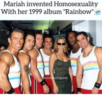 """Grindr, Rainbow, and Homosexuality: Mariah invented Homosexuality  With her 1999 album """"Rainbow''  mariahfreakingcarey Fun fact: This is @funkdaddy1997's favorite album"""