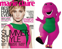 marie claire: marie  claire  FOLLOW US ON TWITTERMARIECLAIRE  JUNE 2014  BES  3  SHE DRINKS,  CURSES &  TOTALLY  CRACKS  US UP!  BEACHY WAVES  MESSY UPDOS  SEXY BED HEAD  JENNIFER  LAWRENCE  How to nail them all!  Your Perfect  Weekend  Done!  Killer cocktails,  epic playlists,  PANIC  ATTACKS?  You're not  alone-  read this!  SUMME  STYLE  EXOTIC KNOCKOUT PLAYFUL  BAGS SWIMSUITS PRINTS  9