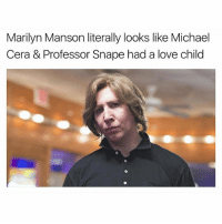 Beautiful, Funny, and Love: Marilyn Manson literally looks like Michael  Cera & Professor Snape had a love child They're all beautiful people 💁🏻 @marilynmanson