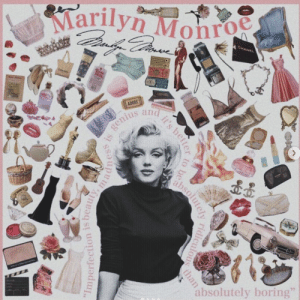 Adore, Marilyn, and Absolutely: Marilyn Monro  ADORE  us an  absolutely boring""