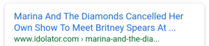 Britney Spears, Target, and Tumblr: Marina And The Diamonds Cancelled Her  Own Show To Meet Britney Spears At  www.idolator.com 〉 marina-and-the-dia… madelinelover:this is the funniest thing in the world
