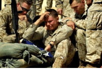Marine in tears as he is presented with the flag of his fallen brother. https://t.co/2rEi6th1BF: Marine in tears as he is presented with the flag of his fallen brother. https://t.co/2rEi6th1BF