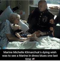 Memes, Dress, and Time: Marine Michelle Klimarchuk's dying wish  was to see a Marine in dress blues one last  time Semper Fi! https://t.co/iWcE9l4IfD