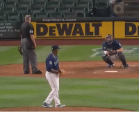 Memes, Amazing, and 🤖: mariners.com  an Cand  ead Night  mber 9 vs. Ang  DEWALT D  3t Umpire gives amazing reaction to awful pitch 😂😂 https://t.co/uHedJd3iQG