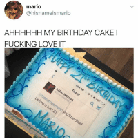 "@kendalljenner and Jesus: ""I follow @kalesalad and u should too"": mario  @hisnameismario  AHHHHHH MY BIRTHDAY CAKE  FUCKING LOVE IT @kendalljenner and Jesus: ""I follow @kalesalad and u should too"""