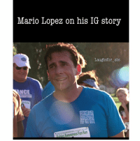Memes, Michael Scott, and Mario: Mario Lopez on his IG story  Laughs for abs  NCE  ELATION  Michael Scotts  Dunder Mililin  Awareness Fun Run Race  For The Cure  Awareness Fun Run @mariolopezextra forgive me brotha for this but I'm dying 😂😂😂