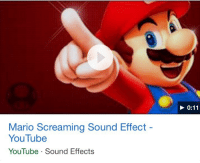 youtube.com, Mario, and Sound: Mario Screaming Sound Effect  YouTube  YouTube Sound Effects