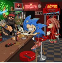 """Crying, Tumblr, and Mario: MARIO WINS LIFETIME ACHIE  GREEN HILL  GIANTS  AD  CHA05  ERE <p><a href=""""http://jimllpaintit.tumblr.com/post/160082888759/a-bitter-washed-up-sonic-the-hedgehog-on-crutches"""" class=""""tumblr_blog"""">jimllpaintit</a>:</p>  <blockquote><p><i>A bitter, washed up Sonic the Hedgehog on crutches drowning his sorrows  in a bar having completely ruined his knees with 26 years of high impact  running. He's crying over a tattered photo of Amy Rose and has just  spent his last gold ring on whiskey. </i><br/></p><p>As requested by David Sinclair</p><p>Support Jim'll Paint It on <b><a href=""""https://www.patreon.com/jimllpaintit"""">Patreon</a></b><br/></p></blockquote>  <p>Uh</p>"""