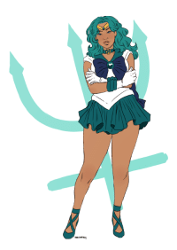Target, Tumblr, and Blog: marisketch:    Guarded by Neptune, planet of the sea. I am the soldier of affinity, Sailor Neptune!