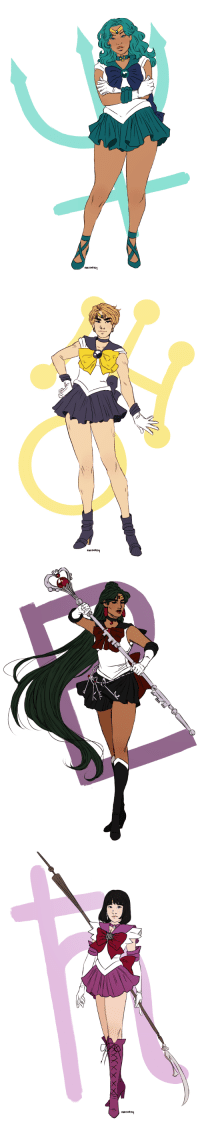 Target, Tumblr, and Blog: marisketch:  Inner Senshi // Outer Senshi // Moons