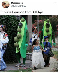 Harrison Ford, Memes, and Ford: Marisssssa  @FriendOFGay  This is Harrison Ford. OK bye. Didn't exPEAct that. | Follow @aranjevi for more!