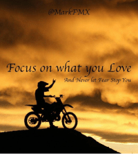 Memes, Happy, and Fear: Mark FMX  ocus on what you rove  And Never let Fear Stop You Do more of what makes you happy....