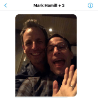 Group Chat, Mark Hamill, and Memes: Mark Hamill +3 Oh shoot Seth got Peralta to wave to the group chat #Brooklyn99 https://t.co/sYjrddVa7w