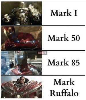 The best one: Mark I  Mark 50  MARVEL PH  Mark 85  Mark  Ruffalo The best one