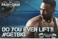 MARK  JOHNSON  WAHLBERG  PAIN& GAIN  THIS IS A TRUE STORY  DO YOU EVEN LIFT?!  HGASTBIG  EAT LIFT SLEEP  REPEAT The latest advert being rolled out for the new pain and gain movie. 