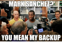 Geno Smith will be the starting QB week 1 against the Tampa Bay Buccaneers!  Credit:TiqIq: MARK SANCHEZnd  NFLMEMEZ  YOU MEAN MY BACKUP Geno Smith will be the starting QB week 1 against the Tampa Bay Buccaneers!  Credit:TiqIq