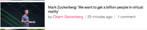Fake, Food, and Mark Zuckerberg: Mark Zuckerberg:'We want to get a billion people in virtual  reality  by Chaim Gartenberg 23 minutes ago 1 comment comcastkills:  portentsofwoe:  lets worry about food and housing first dipshit  this sounds like one of those fake zuckerberg quotes someone made to make fun of him but it's not