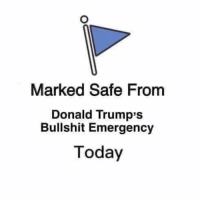 Today, Bullshit, and President: Marked Safe From  Donald Trump's  Bullshit Emergency  Today POS president