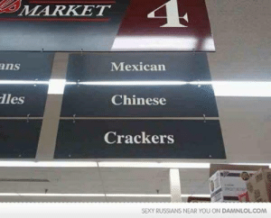 Sexy, Caucasian, and Chinese: MARKET  ans  Mexican  les  Chinese  Crackers  SEXY RUSSIANS NEAR YOU ON DAMNLOL.COM I prefer the term caucasian