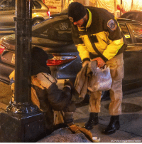 "Over the weekend, the D.C. Police Department shared a touching photo of an MPD Recruit Officer who ""took it upon himself"" to deliver clothes to a homeless man while waiting for blankets and a shelter van.: Market  DC Police Department/Twitter Over the weekend, the D.C. Police Department shared a touching photo of an MPD Recruit Officer who ""took it upon himself"" to deliver clothes to a homeless man while waiting for blankets and a shelter van."