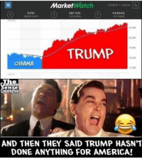 Making America wealthy again!!! JOBS JOBS JOBS! liberal maga conservative constitution like follow presidenttrump resist stupidliberals merica america stupiddemocrats donaldtrump trump2016 patriot trump yeeyee presidentdonaldtrump draintheswamp makeamericagreatagain trumptrain triggered Partners --------------------- @too_savage_for_democrats🐍 @raised_right_🐘 @conservativemovement🎯 @millennial_republicans🇺🇸 @conservative.nation1776😎 @floridaconservatives🌴: MarketWatch  siGNUP . LOGIN Lal  DoW  100 26 0.47%  S&P 500  122 029  NASDAO  L37 002%  21,000  0.000  19,000  TRUMP  OBAMA  17.000  en  onservative  AND THEN THEY SAID TRUMP HASN'T  DONE ANYTHING FOR AMERICA! Making America wealthy again!!! JOBS JOBS JOBS! liberal maga conservative constitution like follow presidenttrump resist stupidliberals merica america stupiddemocrats donaldtrump trump2016 patriot trump yeeyee presidentdonaldtrump draintheswamp makeamericagreatagain trumptrain triggered Partners --------------------- @too_savage_for_democrats🐍 @raised_right_🐘 @conservativemovement🎯 @millennial_republicans🇺🇸 @conservative.nation1776😎 @floridaconservatives🌴