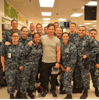 Funny, Meme, and Memes: @markwahlberg was here in Norfolk and came to see the sailors . . . military militaryhumor militarymemes army navy airforce coastguard usa patriot veteran marines usmc airborne meme funny followme troops ArmedForces militarylife popsmoke 757 norfolk