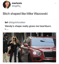 Bitch, Blackpeopletwitter, and Wendys: marluxia  oglilly  Bitch shaped like Mike Wazowski  bri @bigshitxtalker  Wendy's shape really gives me heartburn. <p>Put that thing back where it came from, or so help me! (via /r/BlackPeopleTwitter)</p>