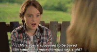 Parent Trap.: Marriage is supposed to be based  i on something more than just sex, right? Parent Trap.