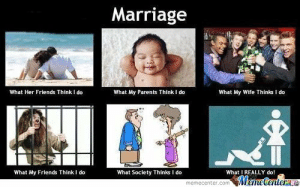 Most Hilarious Indian Wedding Memes that Went Viral: Marriage  What Her Friends Think I do  What My Parents Think I do  What My Wife Thinks I do  What My Friends Think I do  What Society Thinks I do  What I REALLY do! Most Hilarious Indian Wedding Memes that Went Viral